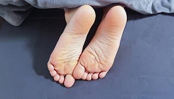 女性の足裏